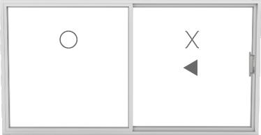OX (1 fixed, 1 sliding)